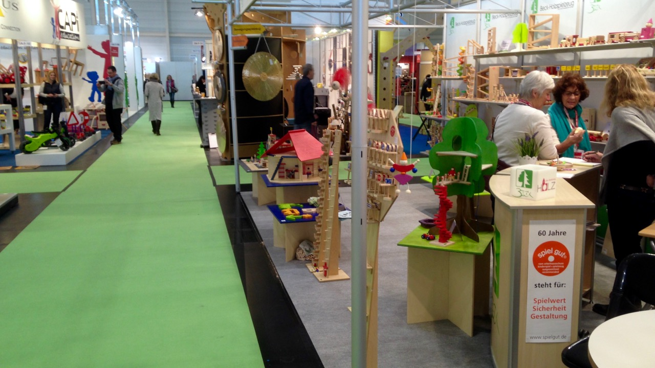 Typical of Hall 3, wooden and classic toys, generally from small to medium size manufacturers