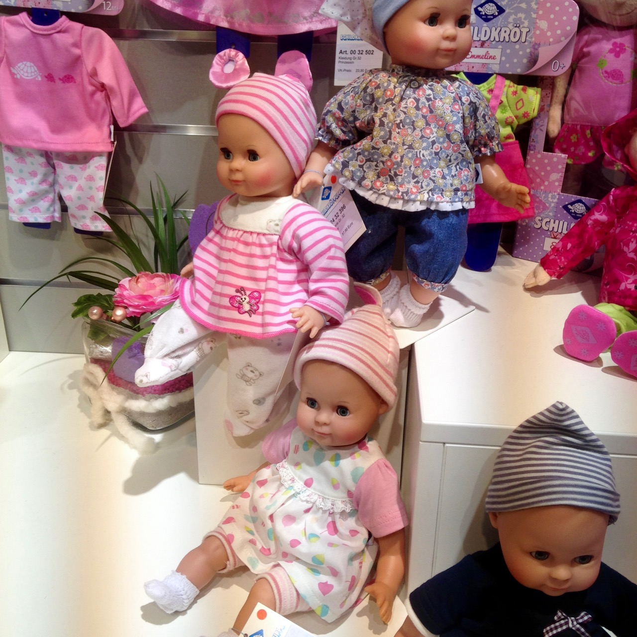 Dolls and soft toys in Halls 1 and 2