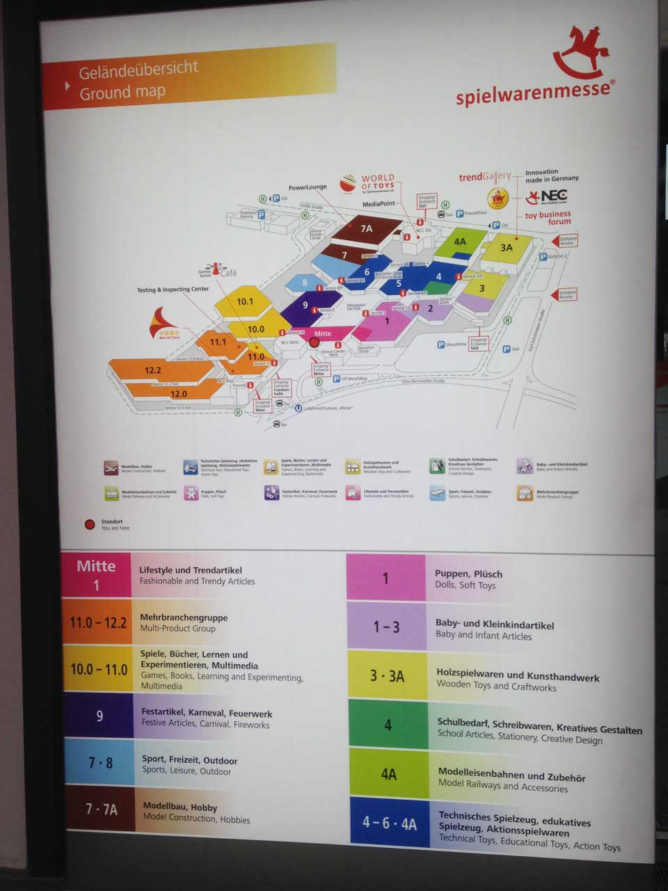 Nuremberg Toy Fair hall map