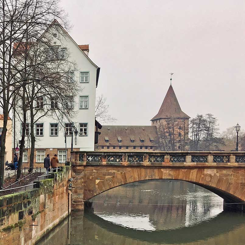 Nuremberg bridge over Pegnitz