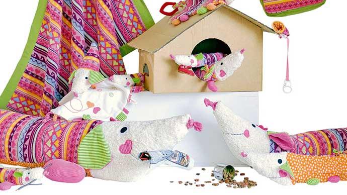 Kathe Kruse nursery decor, rattles, mobiles