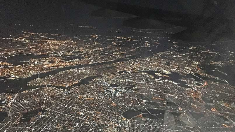 Brooklyn Manhattan Queens from the air